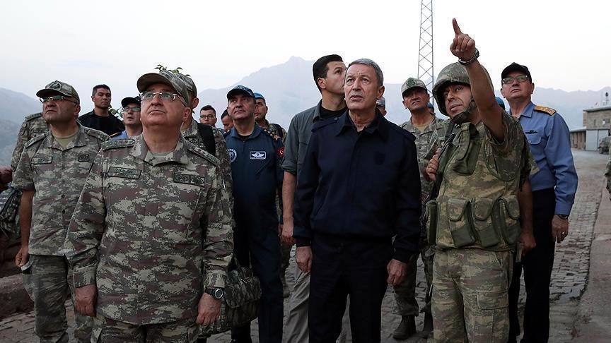 Акар посетил границу с Ираном
