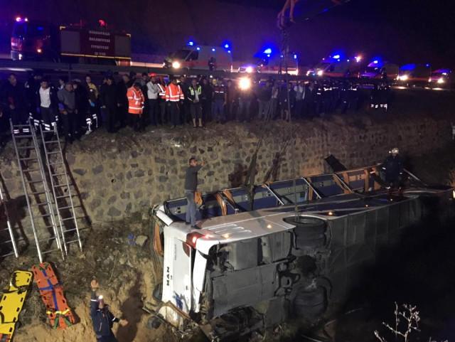 Çində avtobus qəzası: 20 nəfər həlak oldu...