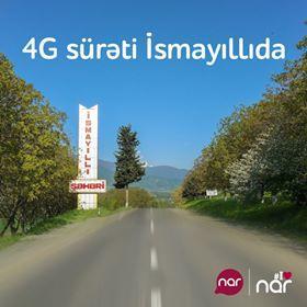 4G şəbəkəsi İsmayıllıda...