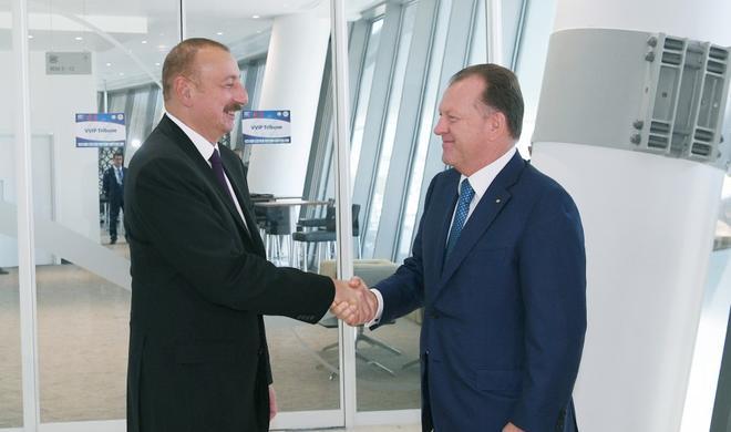 Ilham Aliyev met with president of Intl Judo Federation