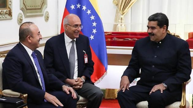 """Maduro Çavuşoğlu ilə görüşdə """"Diriliş Ərtoğrul""""dan danışdı"""
