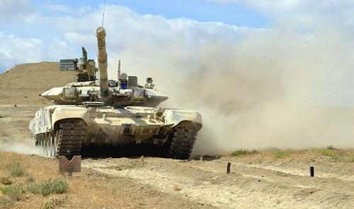 The tank units carried out combat firing -