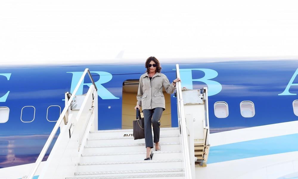 Mehriban Aliyeva arrives in Italy -