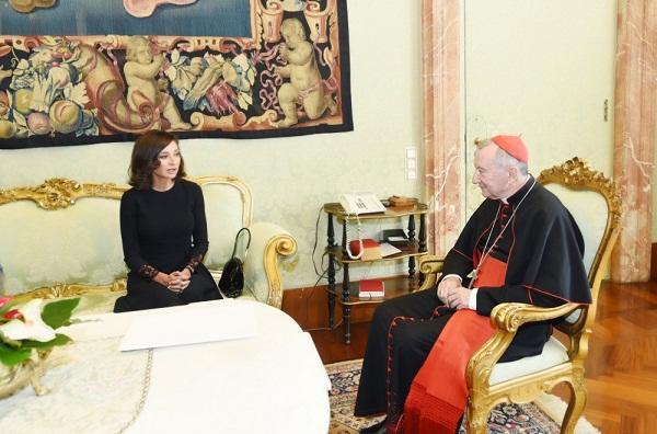 Мехрибан Алиева встретилась с госсекретарем Святого престола