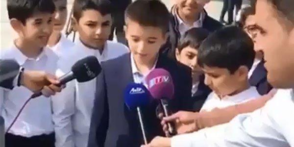 İlham Əliyevin nəvəsi müsahibə verdi - Video
