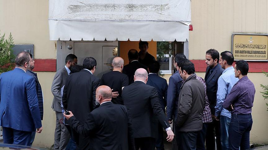 Саудовцы прибыли в здание генконсульства в Стамбуле