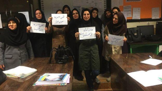 İranın 50 şəhərində müəllimlərin aksiyası başladı - Foto