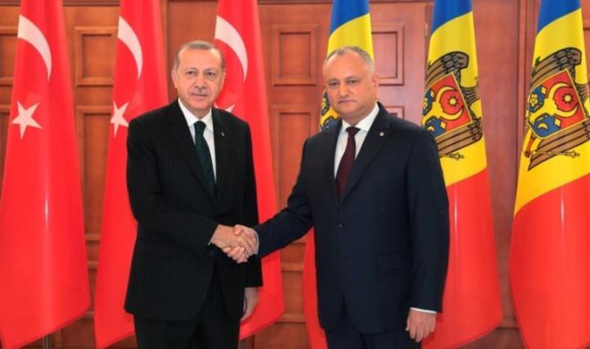 Erdogan arrives in Moldova for 2-day visit