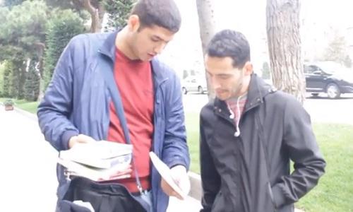 باکیدا آکسییا: گنجلر اللرینده کیتاب کوچهلرده... - ویدئو