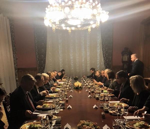 Лавров и Болтон обедают в особняке МИД России