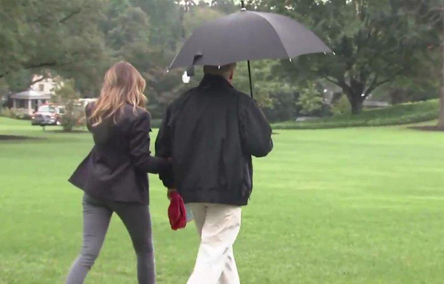 Прическа дороже жены: Трамп оставил Меланью под дождем