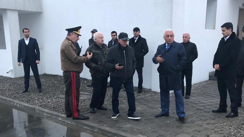 Kəmaləddin Heydərov yanğın olan stansiyada - Foto