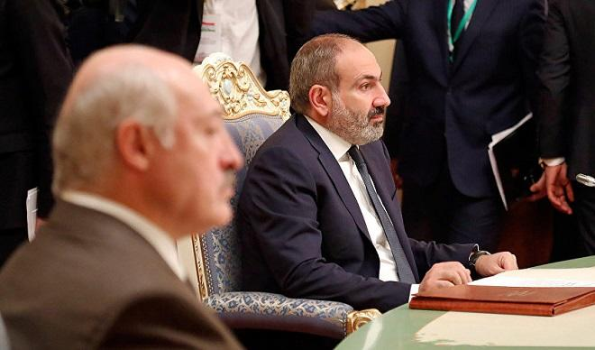 Paşinyan Belarusdan imtina etdi - Qalmaqal