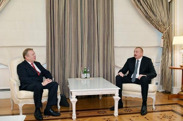 President Ilham Aliyev received Belarus ambassador