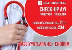 EGE Hospital-da «Check-up ayı» başladı!