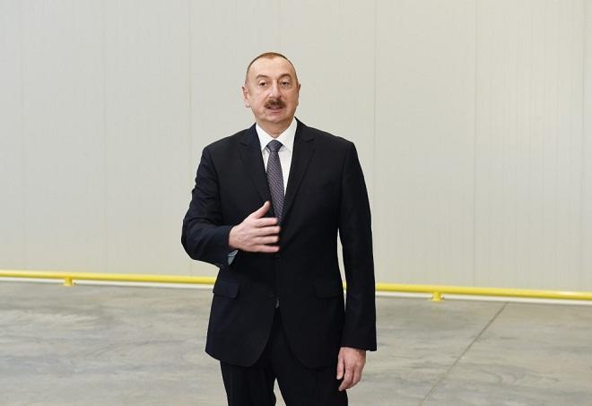 Ильхам Алиев прибыл в Сумгайыт