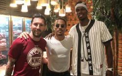 Messi, Pogba meet at Salt Bae's restaurant in Dubai