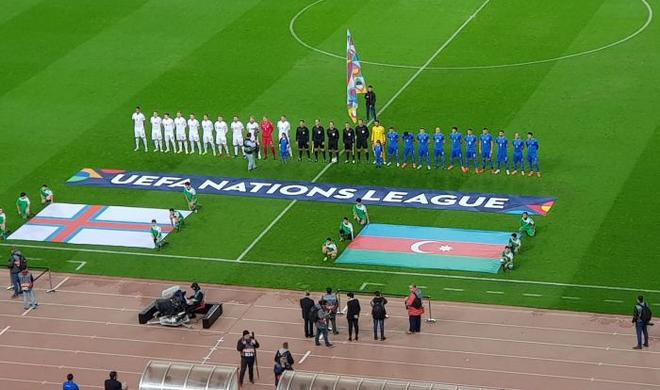 Сборная Азербайджана одолела Фарерские острова