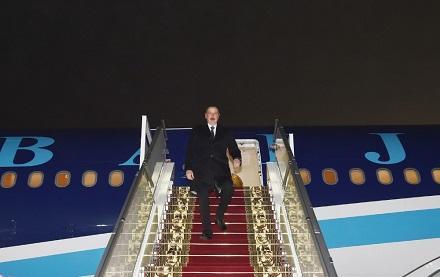 İlham Əliyev Belarusda - Foto