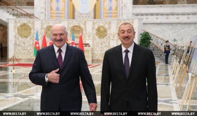 Əliyev Belarusda kansler kimi qarşılandı – Rusiya KİV