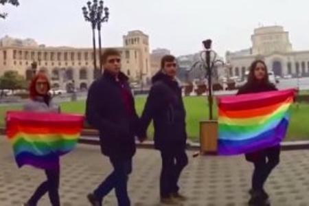İrəvanda cinsi azlıqların aksiyası - Video