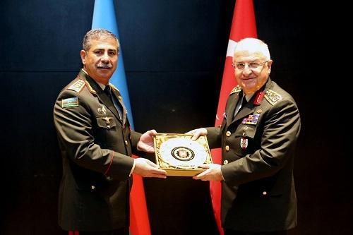 İki ölkə generalları Bakıda: Zakir Həsənovla görüş - Foto