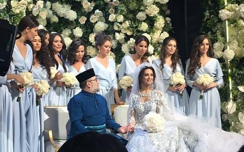 Müsəlman kral rus gözəli ilə Moskvada evləndi - Foto