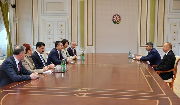 Ilham Aliyev met with the Turkish minister