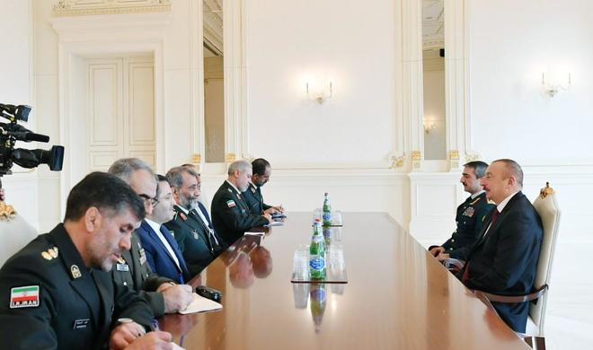 President Ilham Aliyev receives delegation