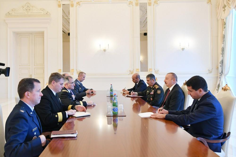 Ilham Aliyev received the NATO Chief Commander