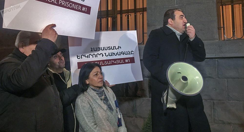 Митиннг за Кочаряна собрал несколько десятков людей