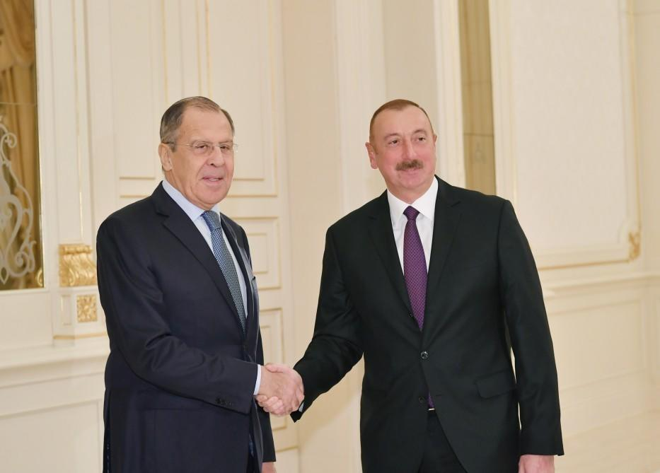 President Ilham Aliyev receives Russian foreign minister