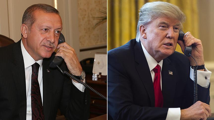 Erdogan, Trump agree coordination in Syria in phone call