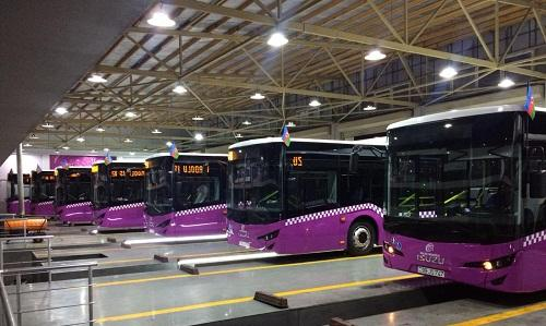Bakıya yeni avtobuslar gətirildi - Foto