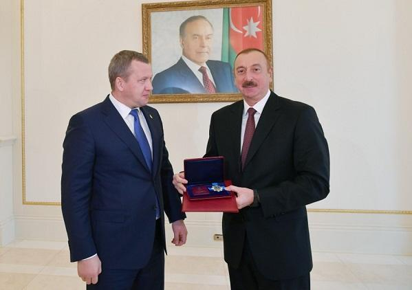 Ильхам Алиев принял делегацию Астраханской области