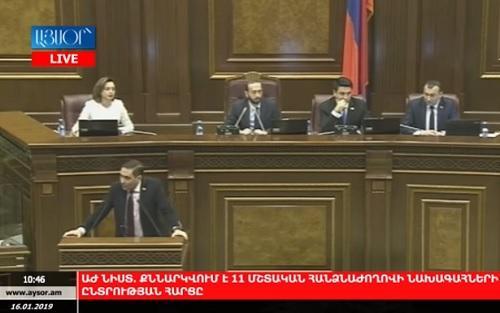 Azərbaycan mediası erməni parlamentinə dava saldı - Video