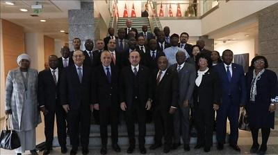 Turkish FM meets African ambassadors
