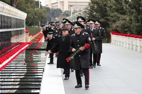 DTX rəhbərliyi Şəhidlər Xiyabanında - Foto