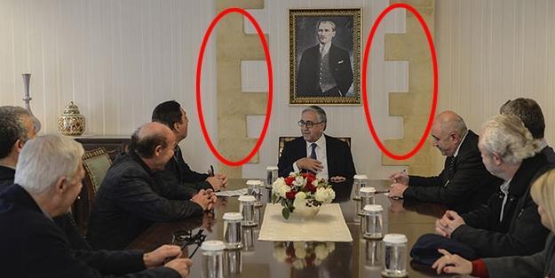 Kiprdə bayraq skandalı: Türk liderin səhvi - Foto