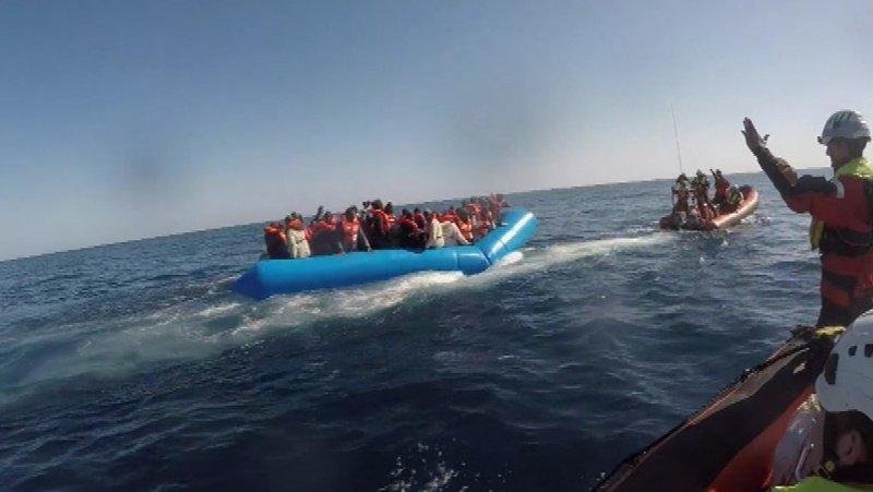 У берегов Ливии спасли почти 60 мигрантов