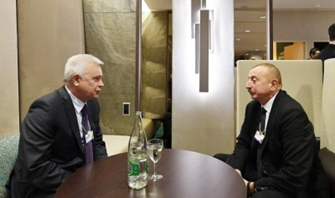 President Aliyev meets LUKOIL president in Davos