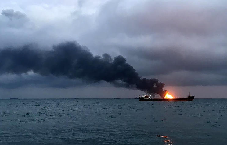 Sailors in Kerch Strait ship fire are Turkish citizens