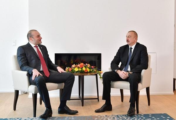 President Ilham Aliyev met with Georgian PM Mamuka Bakhtadze