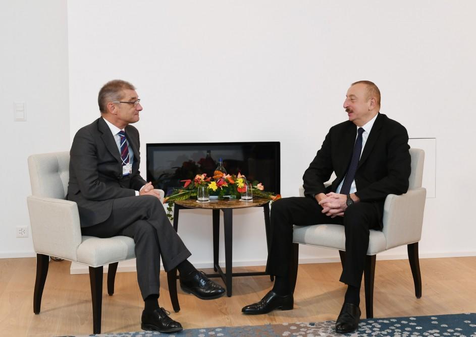 Ильхам Алиев проводит встречи в Давосе - Обновлено/Фото