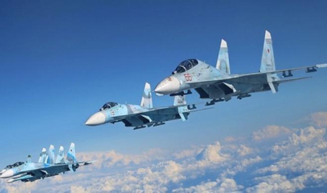 """Su-27 """"Qolfstrim""""i belə yaxaladı - Video"""
