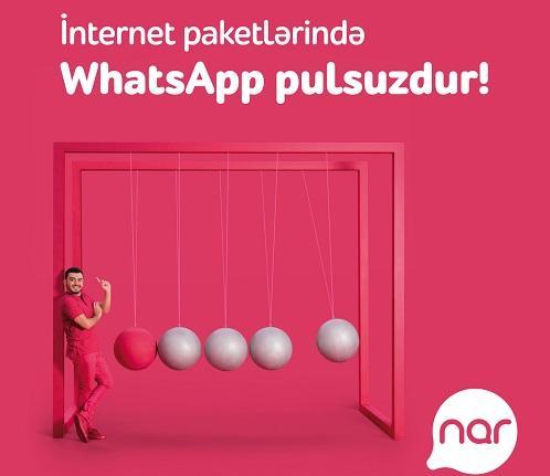 """""""Nar"""" abunəçiləri Votsapdan pulsuz istifadə edir"""