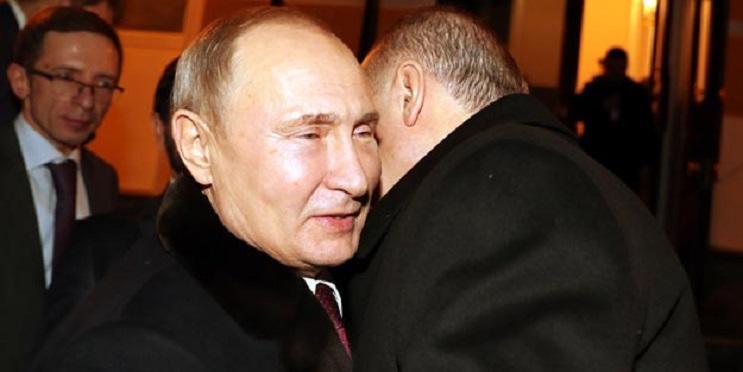 Putin Ərdoğanı belə yola saldı - Foto