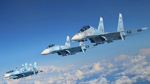 Russian Su-27 jet scrambles to intercept US spy plane