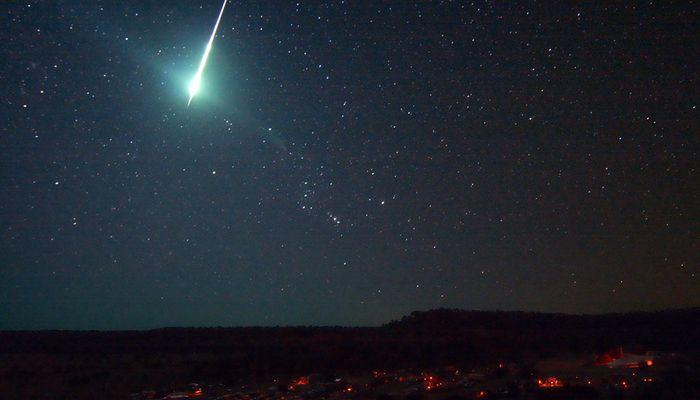 The meteorite drop in Italy -