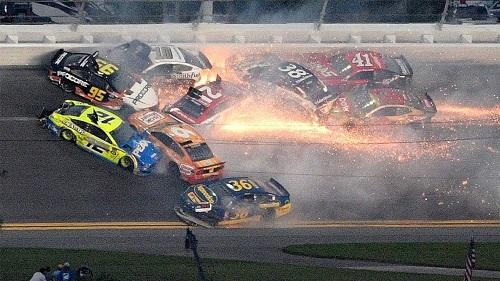 Denny Hamlin wins Daytona 500 after dramatic wrecks -